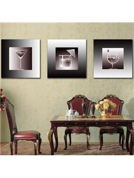 New Arrival Lovely Ice Cream Cups Print 3-piece Cross Film Wall Art Prints