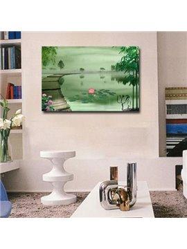 New Arrival Elegant Pond and Lotus Scenery Print Cross Film Wall Art Prints