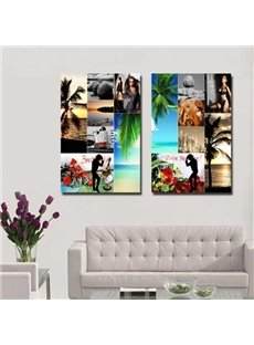 New Arrival Modern Style Mixed Print 2-piece Cross Film Wall Art Prints
