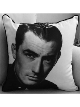 New Arrival Handsome Gregory Peck Print Throw Pillow