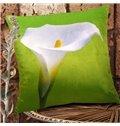New Arrival Beautiful Single Head Calla Flowers Print Throw Pillowcase