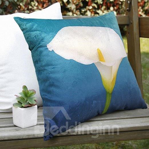 New Arrival Elegant Single Calla Flower Print Throw Pillowcase