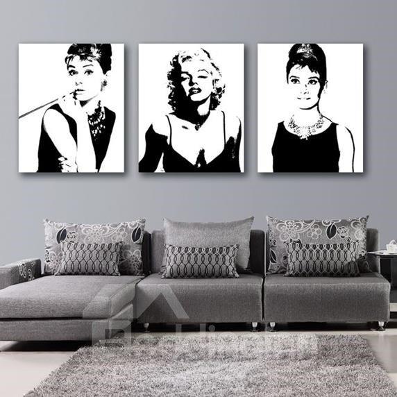 Beautiful Marilyn Monroe And Audrey Hepburn Print 3 Piece