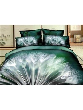 New Arrival Beautiful Dandelion Print 4 Piece Bedding Sets