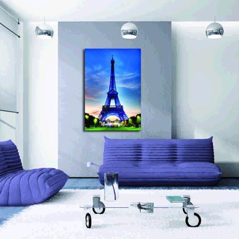 Beautiful Paris Eiffel Tower Pattern None Framed Film Wall Art Prints
