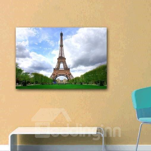 New Arrival Beautiful Eiffel Tower and Sky Print Cross Film Wall Art Prints