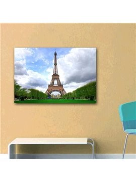 New Arrival Beautiful Eiffel Tower and Sky Print Cross Film Wall Art Prints