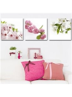 New Arrival Lovely Blossoms Print 3-piece Cross Film Wall Art Prints