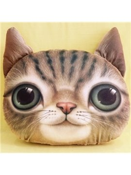 New Arrival Cute Smiling Kitty Print Throw Pillow