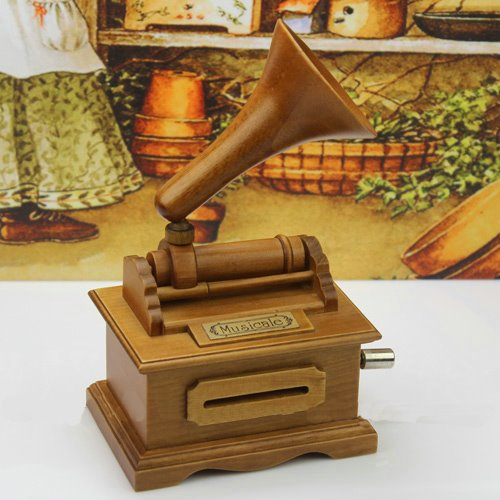 New Arrival Antique Gramophone Style Creative DIY Musical Box