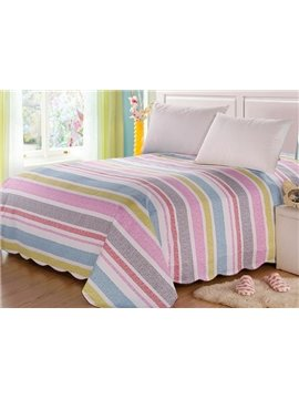 New Arrival Lovely Colorful Stripes Patterns Floral Border Sheet