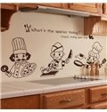 New Arrival Cute Chefs and Letters Print Wall Sticker
