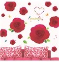 New Arrival Beautiful Red Roses Print Wall Stickers