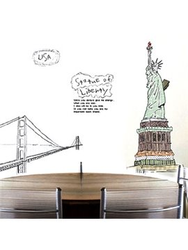New Arrival Lovely Statue of Liberty Print Wall Stickers