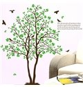 Modern Design Green Tree and Leaves Print Wall Stickers