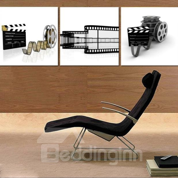 New Arrival Elegant Kinetoscope Film Print 3-piece Cross Film Wall Art Prints