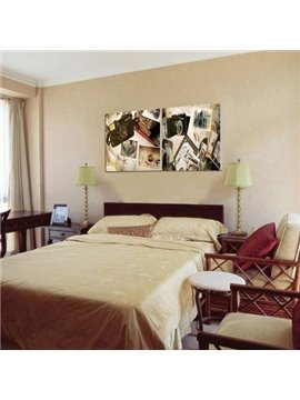 New Arrival Antique Style Camera and Photos Print 2-piece Cross Film Wall Art Prints