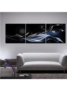 Modern Style Elegant Ribbons Print 3-piece Cross Film Wall Art Prints