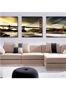Beautiful Golden Gate Bridge Print 3-piece Cross Film Wall Art Prints