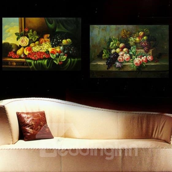 New Arrival Beautiful Various Flowers and Fruits Print 2-piece Cross Film Wall Art Prints