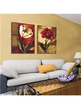 New Arrival Beautiful Flowers Print 2-piece Cross Film Wall Art Prints
