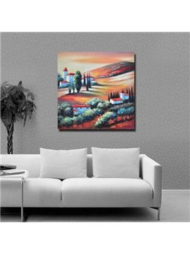 New Arrival Beautiful Colorful Plain Scenery Print Cross Film Wall Art Prints