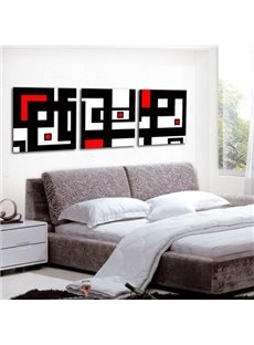 Modern Style Abstract Lines Print 3-piece Cross Film Wall Art Prints