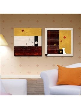 New Arrival Modern Style Abstract Patterns Print 2-piece Cross Film Wall Art Prints