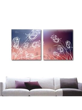 New Arrival Beautiful Dreamy Tulips Print 2-piece Cross Film Wall Art Prints