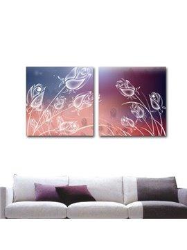 New Arrival Beautiful Dreamy Tulips Print 2-piece Cross Film Wall Art Prints