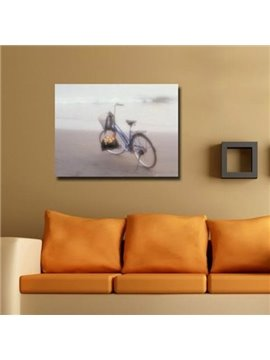 New Arrival Beautiful Bike on the Beach Print Cross Film Wall Art Prints