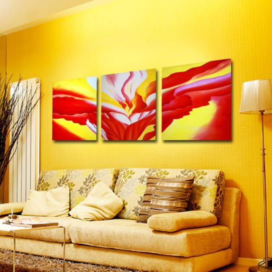 New Arrival Stunning Colorful Patterns Print 3-piece Cross Film Wall Art Prints