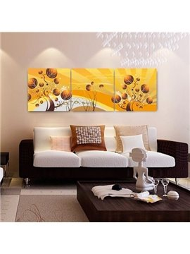 New Arrival Elegant Golden Trees Print 3-piece Cross Film Wall Art Prints