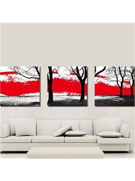 New Arrival Stylish Black Trees Print 3-piece Cross Film Wall Art Prints