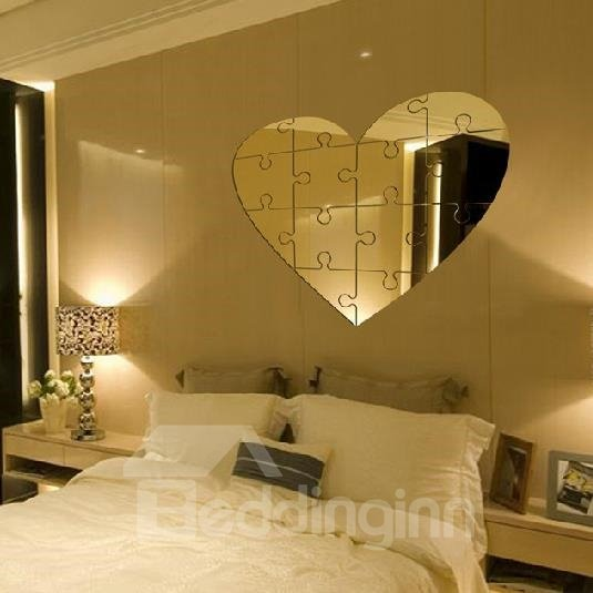 Lovely Heart Style Acrylic Home Decorative Wall Stickers