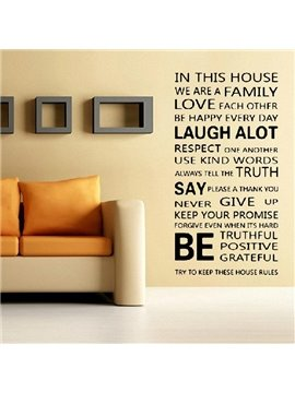 New Arrival Beautiful English Poem Print Wall Stickers