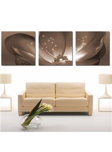 Lovely Gray Flower Stamen Print 3-piece Cross Film Wall Art Prints