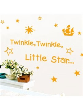 New Arrival Lovely Twinkle Stars Letters Print Wall Stickers