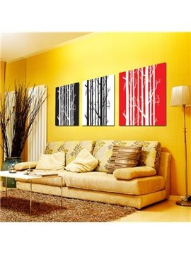 New Arrival Modern Style Elegant Tree Trunk Print 3-piece Cross Film Wall Art Prints