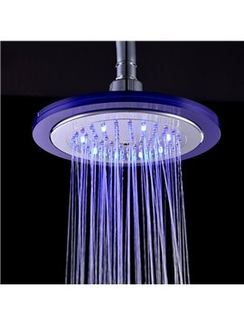 8 Inches Contemporary LED Colors-changing ABS Round Shower Head Faucet