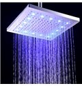 12 Inches LED 3-Colors-Changing Rectangular Copper Shower Head Faucet