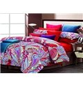 Colorful Phoenix Feathers Print 4 Piece Cotton Bedding Sets