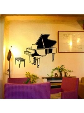 Simple Style Beautiful Piano and Chair Print Wall Stickers