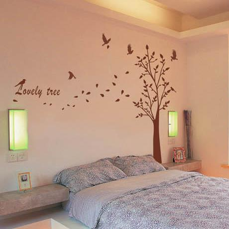 New Arrival Beautiful Lovely Tree and Birds Print Wall Stickers