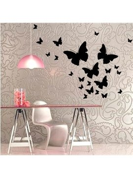 Romantic Butterflies 27-Piece Wall Decal Kit