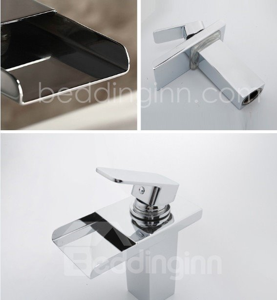Three Color Changing by Temperature Widespread Waterfall Faucets