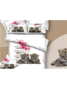 New Arrival Two Cute Baby Ligers Print 3D Bedding Sets