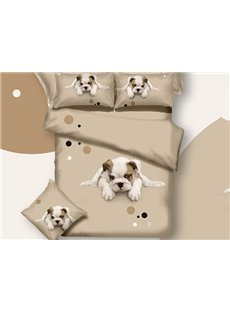 New Arrival Pretty White Dog Print 3D Bedding Sets