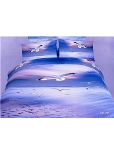 New Arrival Seagulls Flying in the Sky Print 3D Bedding Sets