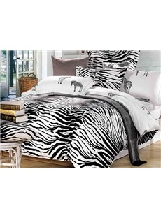 Very Sexy Zebra Print Soft Cotton Bedding Sets